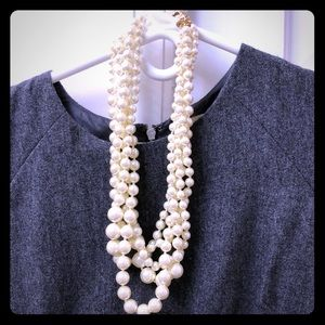 J Crew multi strand faux pearl necklace